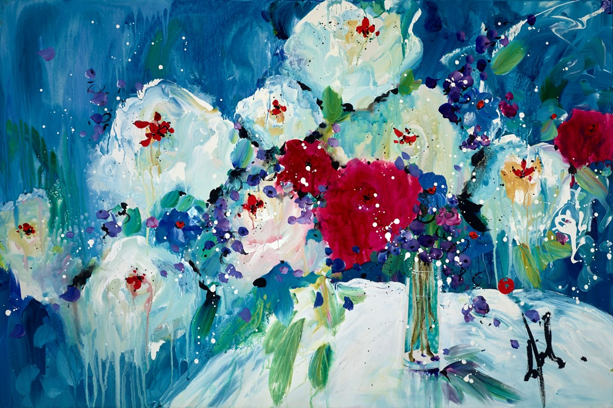 Blue Turquoise Dreaming (RR) by danielle o'connor akiyama -  sized 59x40 inches. Available from Whitewall Galleries